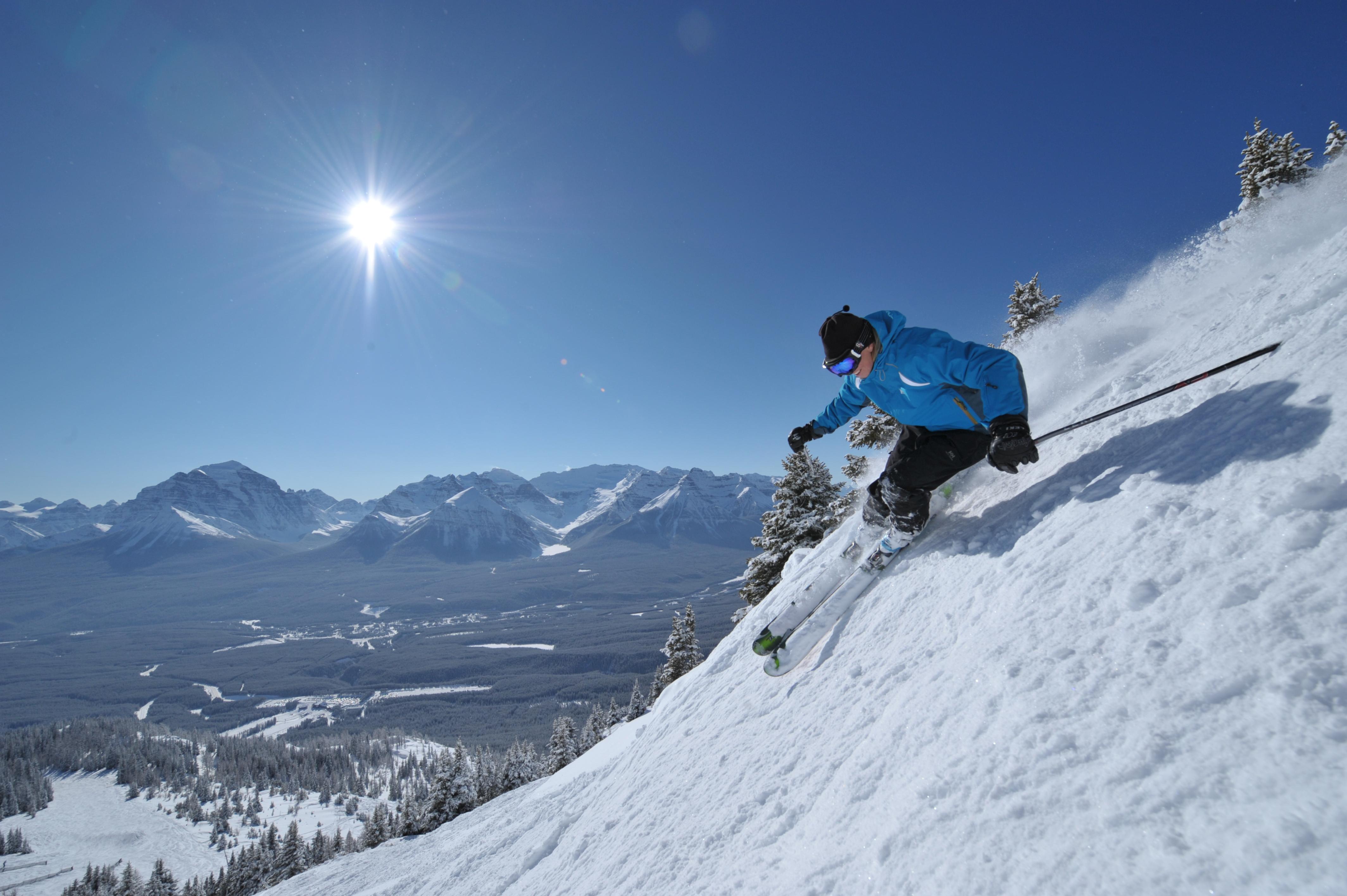 Skiing at Lake Louise, Banff, Alberta.