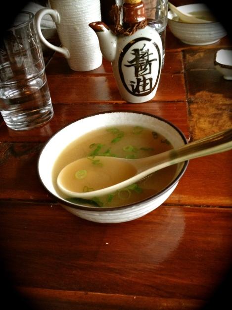 Vancouver Sake Maki Miso Soup